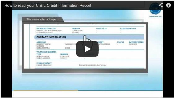 cibil credit information report