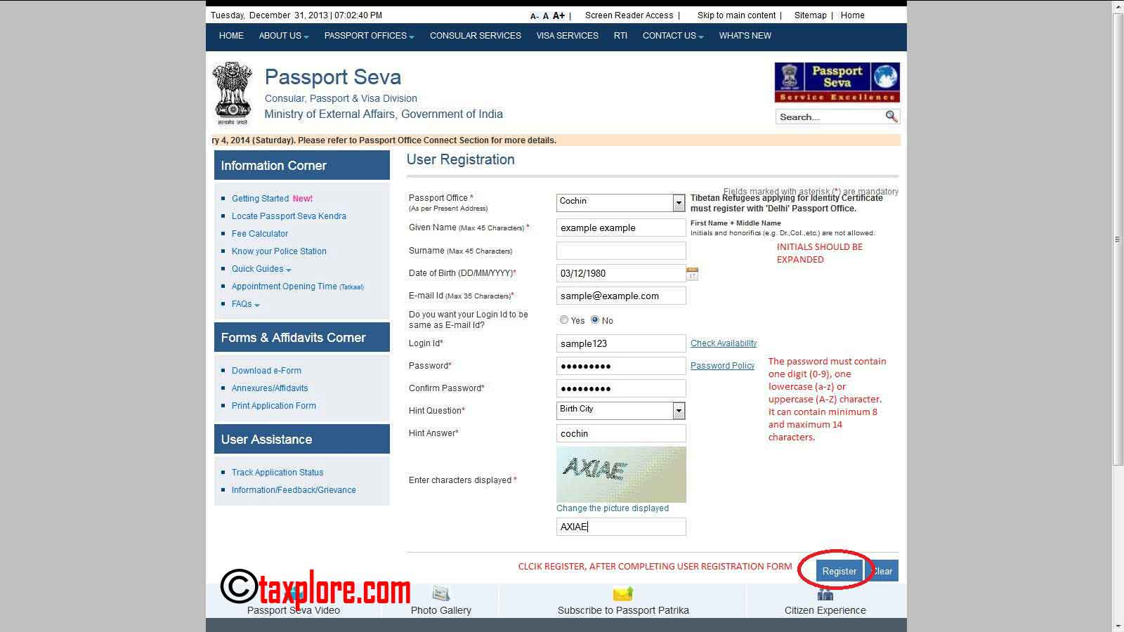 How to apply for passport online online passport application taxplore how to apply for passport online 2 falaconquin